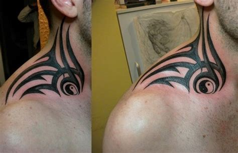 63 realistic tribal neck tattoos