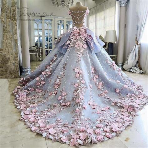 Weddings Flower Dresses by Colorful Luxury Wedding Dresses Pink Flowers Dreamy