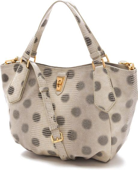 Marc By Marc Oversized Polka Dot Tote by Marc By Marc Embossed Lizzie Dots Ns Tote In Gray