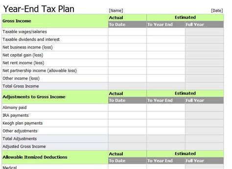 tax deduction spreadsheet template excel tax return workpapers preparation template
