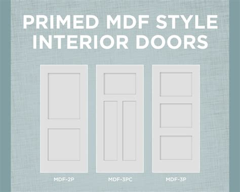 interior mdf doors primed mdf interior doors with true square sticking