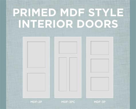 mdf panel doors interior primed mdf interior doors with true square sticking