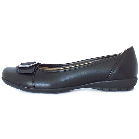 Comfortable Flats by Gabor Garda Sale Comfortable Flat Shoes In Black Leather Mozimo