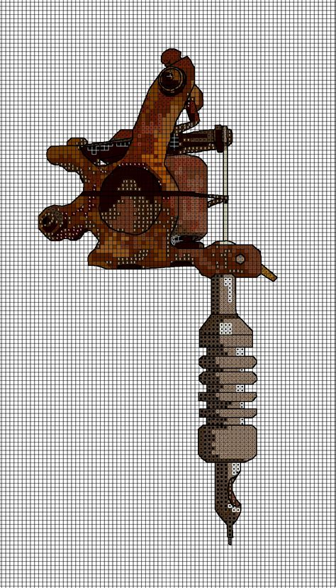 Tattoo Gun Cross Stitch | tattoo machine cross stitch chart by ghostsanddecay on