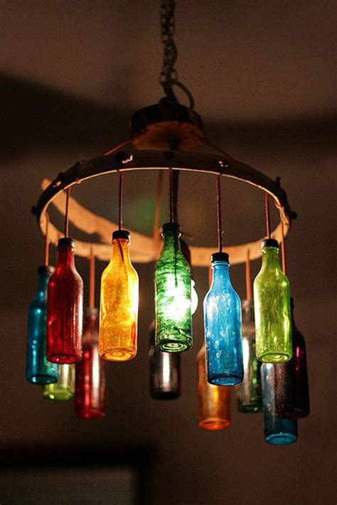 colorful light fixtures colorful wine bottle light fixture