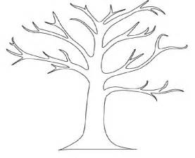 fall tree template tree outline with leaves clipart clipart suggest