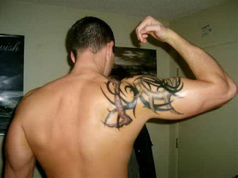 arm and shoulder tattoos outstanding tribal arm shoulder for 5575613