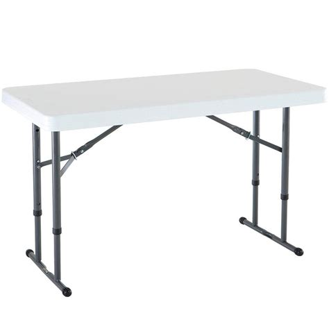 lifetime tables home depot lifetime white granite adjustable folding table 80160