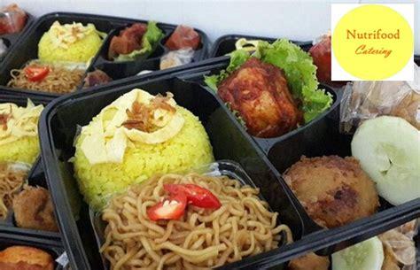 nutrifood catering menu nasi kotak
