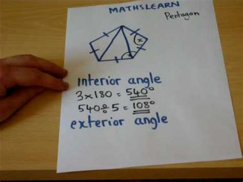 How To Work Out The Interior Angle by The Trick To Finding Interior And Exterior Angles Easily