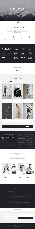 html themes portfolio t one minimal portfolio theme flatdsgnflatdsgn