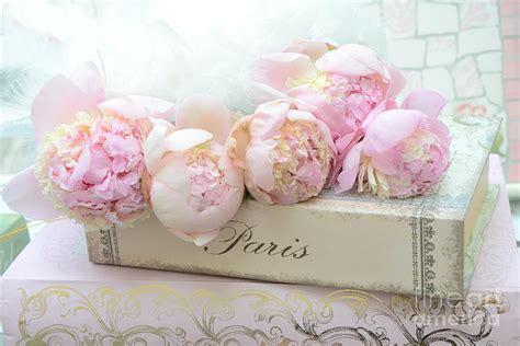 paris pink peonies romantic shabby chic french market