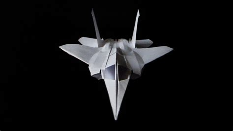 How To Make A Paper Airplane Jet Fighters - f15 paper fighter plane folded no glue