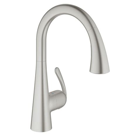 Grohe Faucet Kitchen Grohe Ladylux3 Cafe Single Handle Pull Sprayer Kitchen Faucet With Dual Spray In Brushed