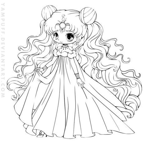 chibi christmas coloring pages nehelenia chibi lineart commish by yampuff on deviantart
