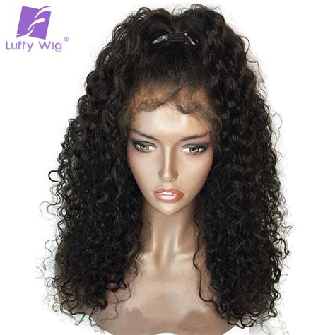 aliexpress human hair wigs luffy curly pre plucked hairline glueless full lace human