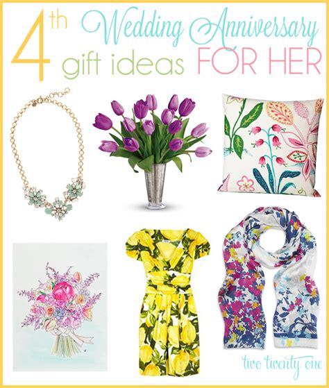 4th anniversary gift ideas
