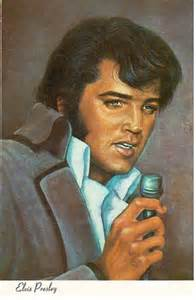 Elvis card for oklahoma card with painting of elvis presley sent to