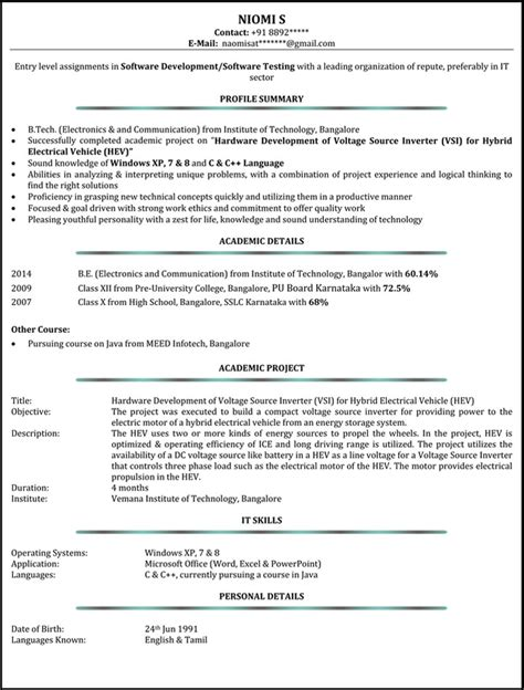 resume format for year experienced in java java 2 years experience resume formats resume template