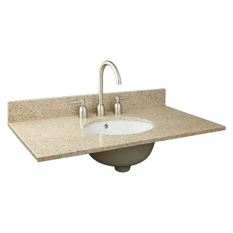 37 quot x 19 quot narrow depth granite vanity top for undermount