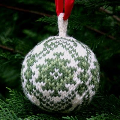 christmas balls a free knitting pattern pdf two strands