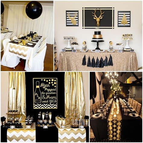 gold event themes black and gold party table decorations party deco