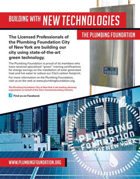 building with new technologies the plumbing foundation