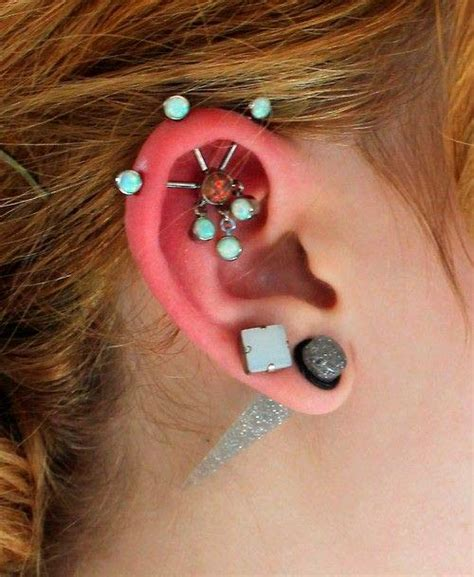 Get The Look Fergies Cool Earrings by Piercing Types And 80 Ideas On How To Wear Ear Piercings