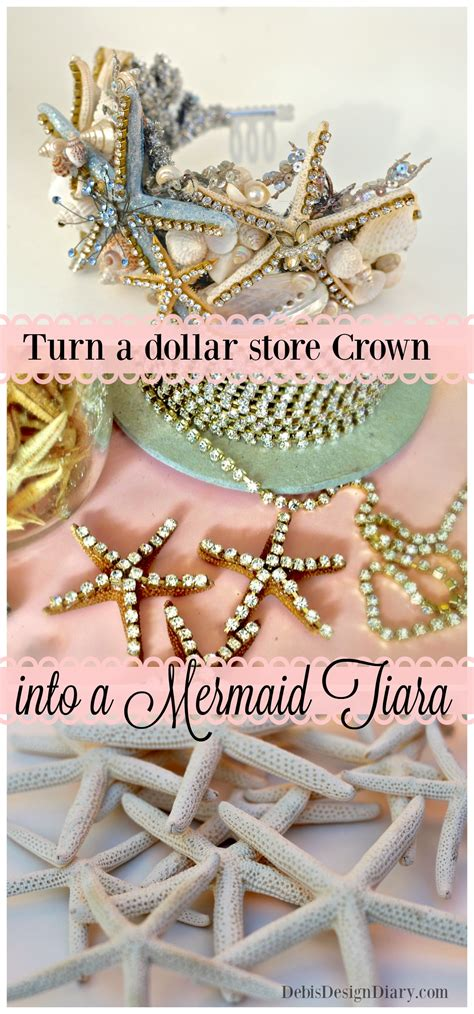 Plastik Dollar how to make a seashell crown with a dollar store plastic