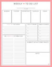 To Do Planner Template Weekly To Do List 1 Sheet Printable Organization By Sheplans