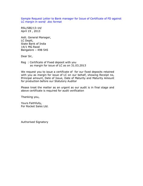 Best Photos of Bank Statement Request Letter Format   Bank