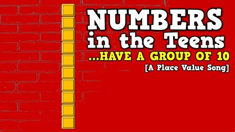 A Place Song Numbers In The A Of 10 A Place Value Song For