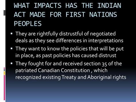 section 35 of the canadian constitution ppt the impact of the indian act on collective rights