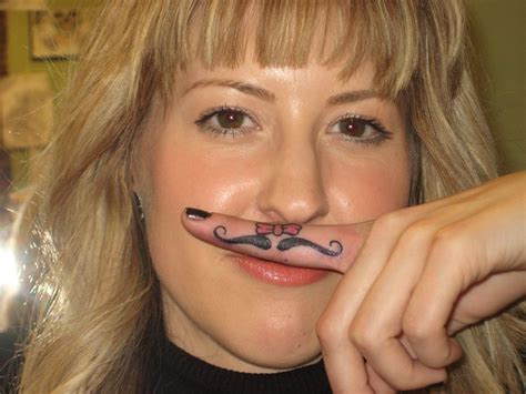 tattoo finger moustache 84 amazing fingerstach tattoos on finger
