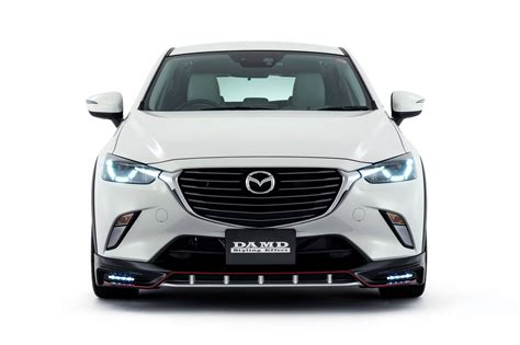 mazda cx3 custom 2016 mazda2 and cx 3 get aggressive body kits from damd in