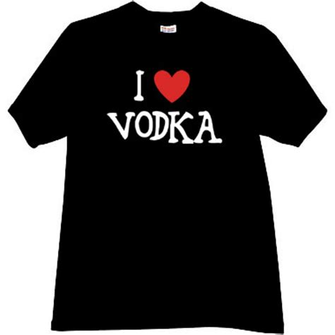 T Shirt Black Vodka i vodka cool t shirt in black vodka russian