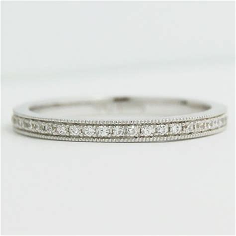 w93611 2 0mm micro pave set thin eternity band 14k white