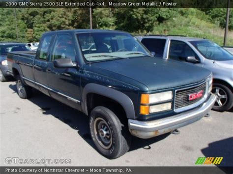 2000 gmc 2500 extended cab 4x4 meadow green metallic 2000 gmc 2500 sle extended
