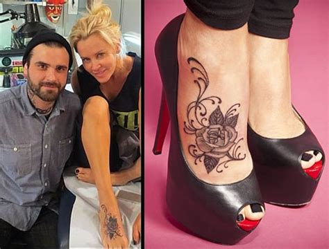 jenny mccarthy foot tattoo like placement but not actual