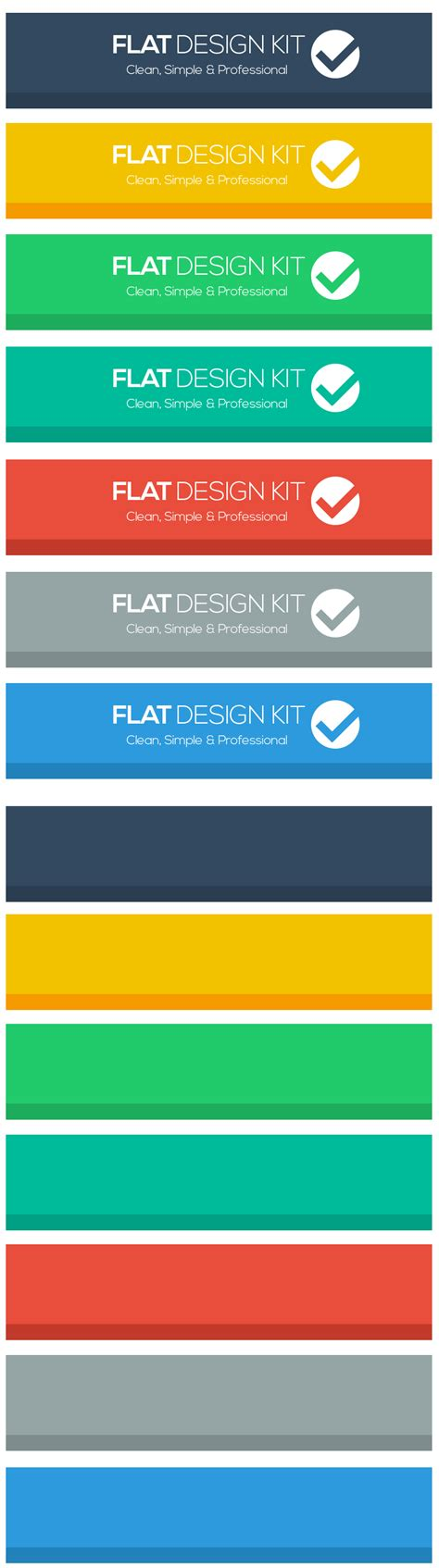 header design kit yours free flat design kit buttons and header graphics