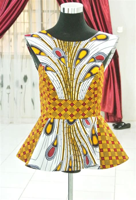 ankara peplum tops styles peplum ankara styles top for ladies dezango fashion zone