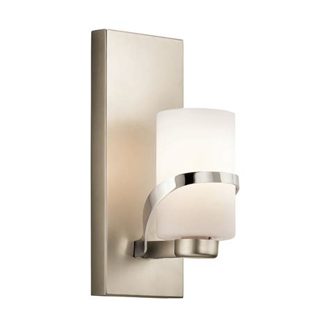 Kichler Vanity Light Shop Kichler Stelata 1 Light 12 In Polished Nickel Cylinder Vanity Light At Lowes