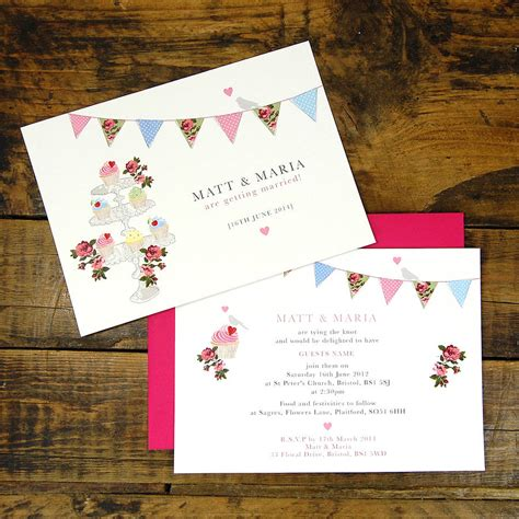 vintage inspired wedding invitations vintage inspired fete wedding invitation by ditsy chic notonthehighstreet