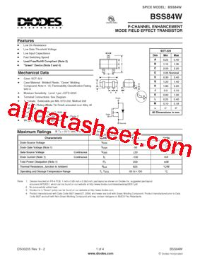 diodes inc bss84 diodes inc bss84 28 images bss84 datasheet pdf pinout p channel enhancement ndp4060l