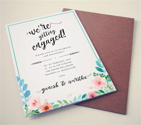 Editable Engagement Invitation Card Template by 31 Invitation Card Templates Free Premium