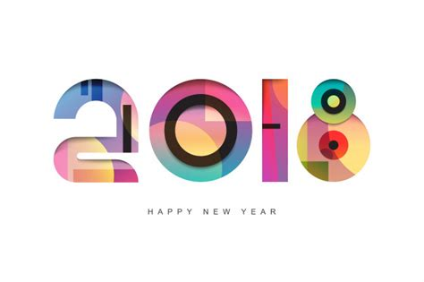 new year card design ai happy new year 2018 text design greeting card design