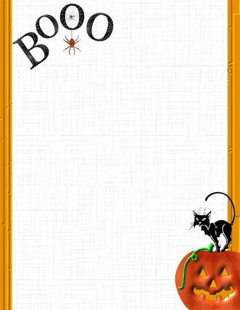 halloween 1 free stationery com template downloads