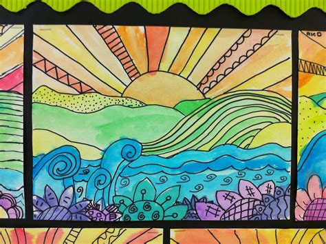 pattern art projects elementary apex elementary art whimsical landscapes