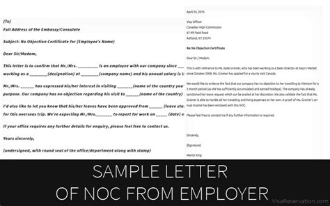 Sample Letter Of No Objection Certificate From Employer Visa