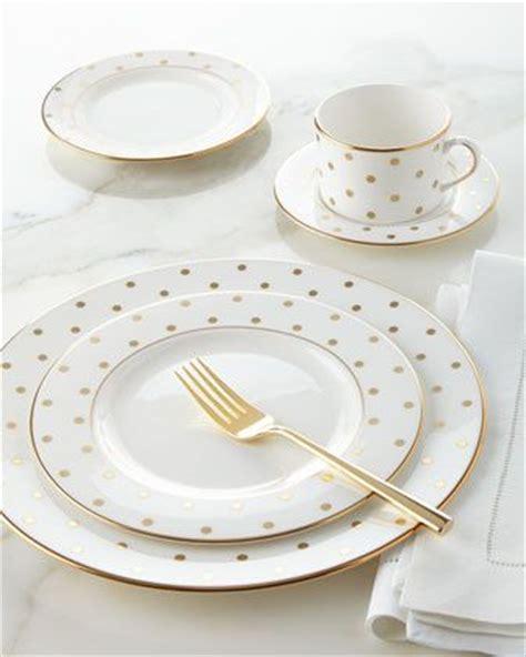 kate spade dinnerware dinnerware kate spade and gold polka dots on